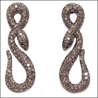 Snake earrings by Zoja Mihic