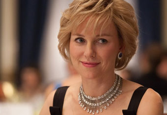 Naomi Watts As Diana Wearing A Chopard Necklace