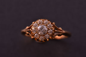 18ct Yellow Gold Edwardian Ring With Diamonds