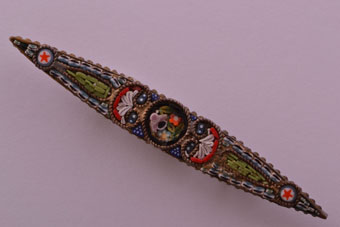 Vintage Italian Brooch With Fine Mosaic