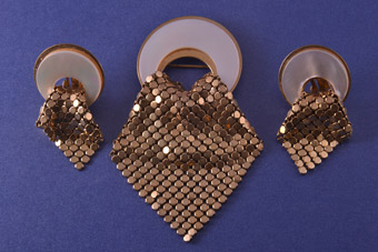 1940's Set Made From Chainmail, Mother-Of-Pearl And Gilt