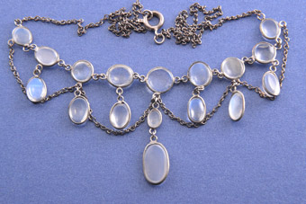 Victorian Necklace With Moonstones