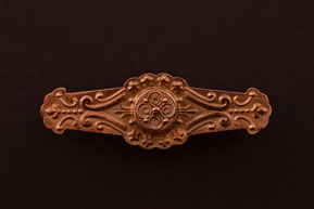 9ct Rose Gold Victorian Brooch With Hair