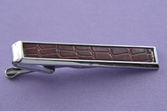 Chrome And Skin 1930's Tie Clip