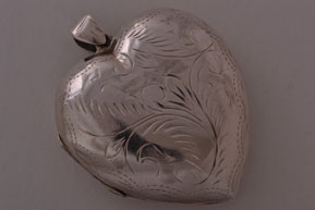 Silver Vintage Large Opening Heart Locket