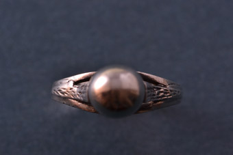 Silver Retro Georges Ring