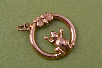 9ct Rose Gold Victorian Charm / Pendant