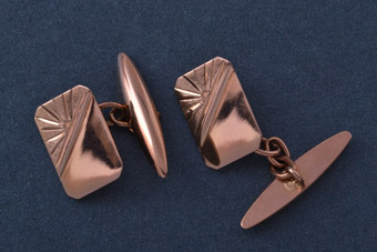 9ct Rose Gold 1930's Cufflinks