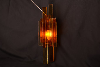 Glass Retro Danish Light Fitting