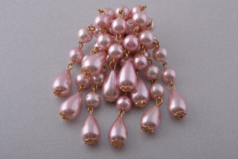 Vintage Brooch With Faux Pearls