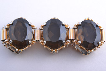 Gilt And Glass Vintage Bracelet