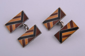 Art Deco Enamel Cocktail Cufflinks