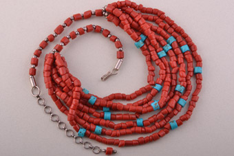 Necklace With Coral Beads