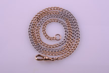 1900 White And Rose Gold Watch Chain