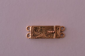 9ct Gold Victorian 2-Strand Clasp