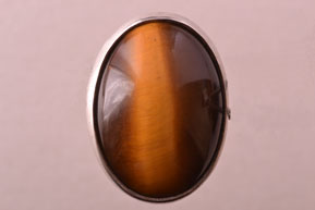 Silver Vintage Ring With A Tiger's Eye Stone