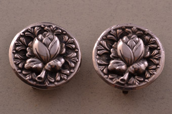 Silver Retro Clip On Candida Earrings