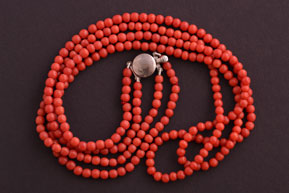 Vintage 1930's 2-Strand Coral Necklace