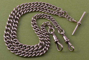 Silver 1900's Double Watch Chain