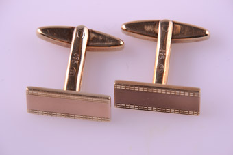 14ct Yellow And Rose Gold Cufflinks