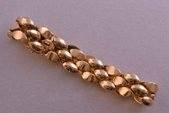 14ct Yellow Gold Vintage Heavy Bracelet