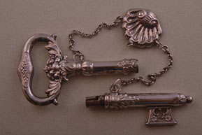 Silver Vintage 2-Piece Ornamental Key