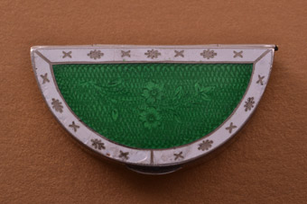 Silver And Enamel Edwardian Pill Box
