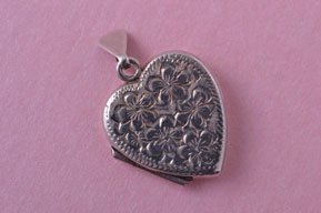 Vintage Silver Heart Opening Locket