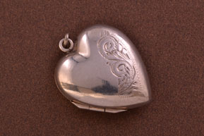 Vintage Silver Opening Heart Locket