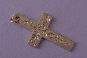Silver Gilt Edwardian Cross