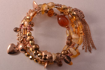 Modern Mariana Spring Bangle With Beads