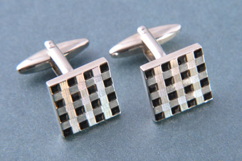 Modern Checkerboard Cufflinks