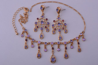 Modern Set With Purple-Coloured Stones