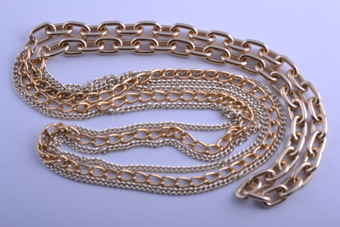 Gilt 1980's Chain Necklace