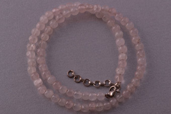 Rose Quartz Modern Necklace