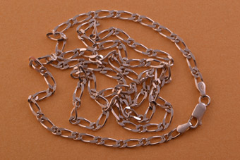Silver Modern Fancy-Link Chain
