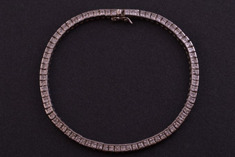 Silver Modern Tennis Bracelet With Cubic Zirconias