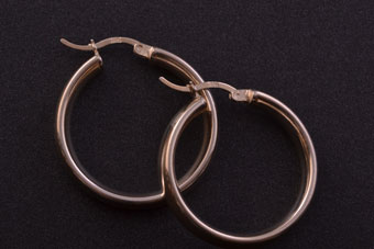 Modern Silver Hoop Stud Earrings