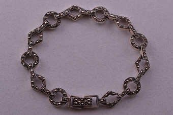 Silver Modern Bracelet With Marcasite