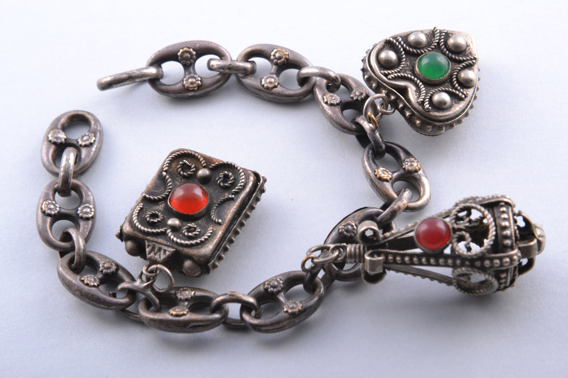 Vintage Ethnic Bracelet With Charms