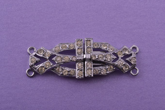 Art Deco Pearl Clasp With Diamanté
