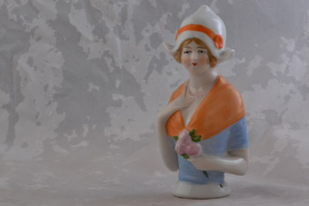Large China Vintage Pincushion Doll