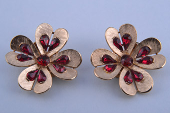 Trifari Clip On Earrings
