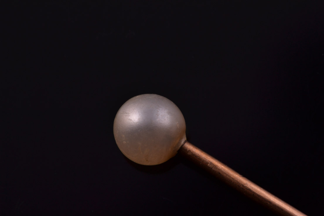 Gold Edwardian Stick Pin With A Pearl