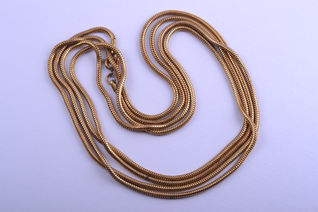 Gilt Vintage Snake Chain Necklace