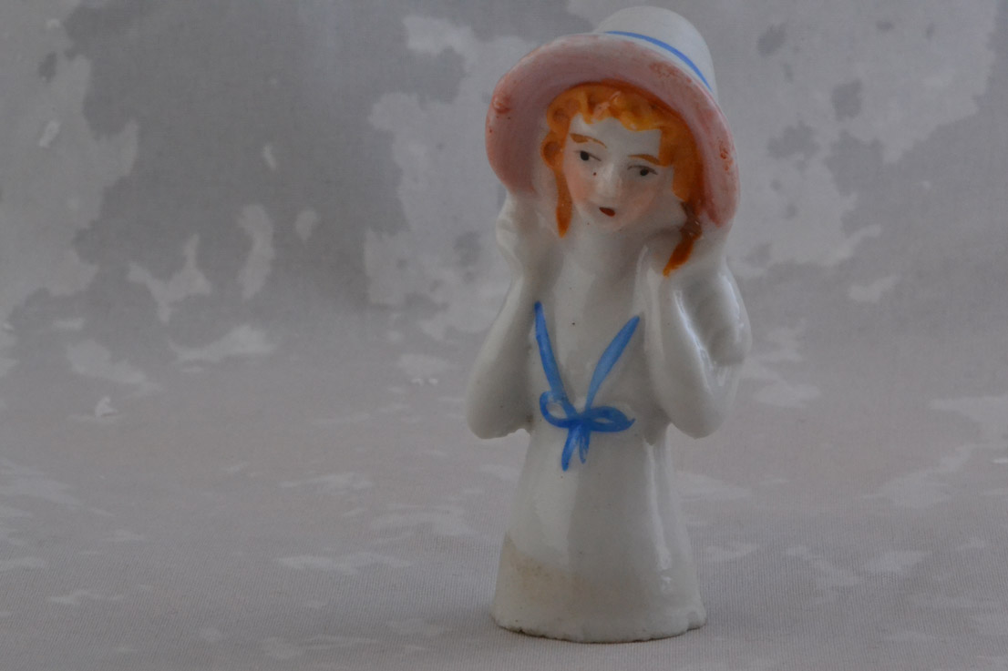Vintage China Pincushion Doll