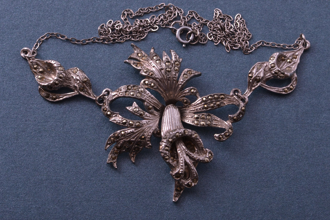 1950's Necklace With Marcasite