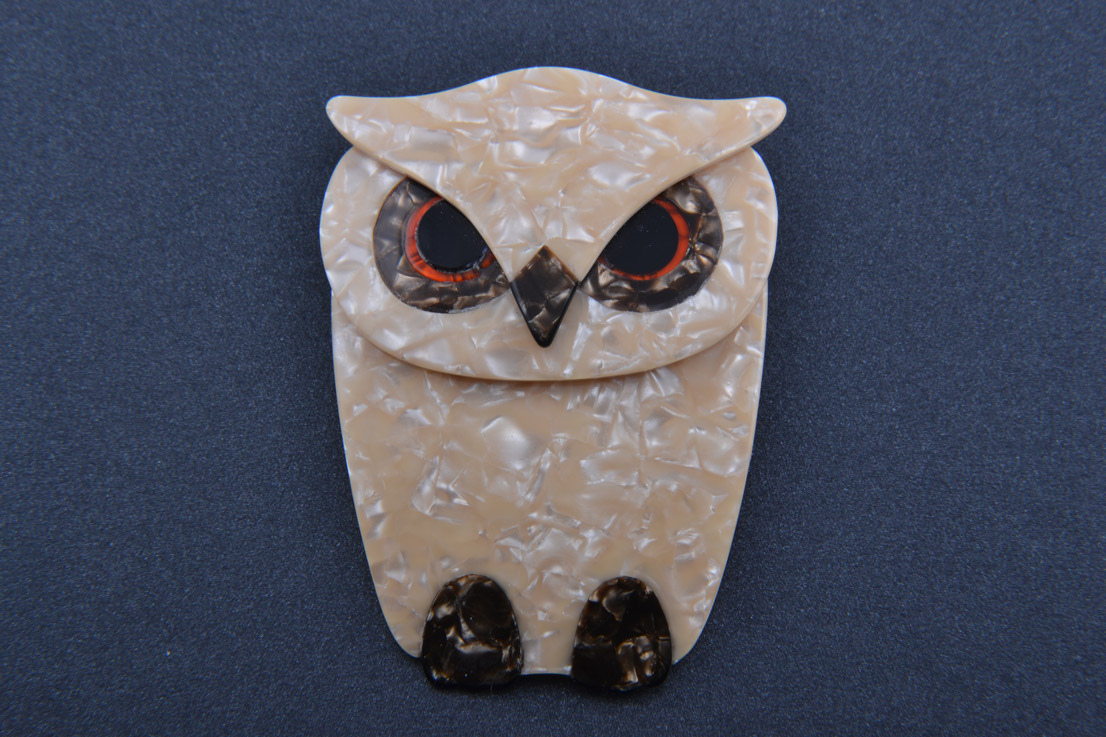 Plastic Lea Stein Owl Brooch Jewellery Amanda