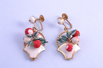 1950's Fruit Screw On Earrings