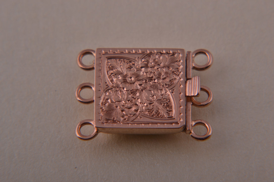 9ct Rose Gold Victorian Clasp With Engraving